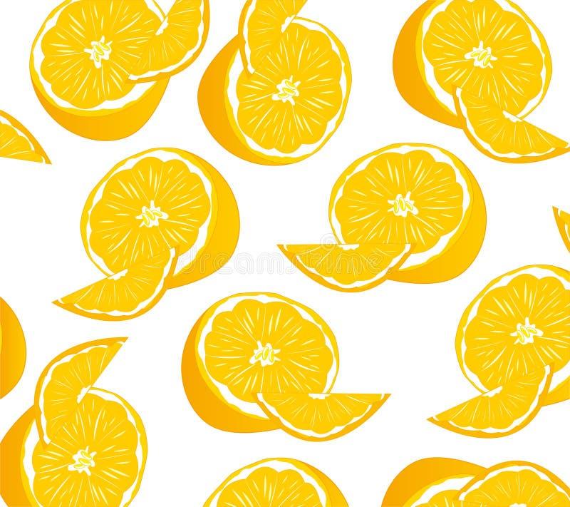 Modèle de mandarine de fruit illustration de vecteur