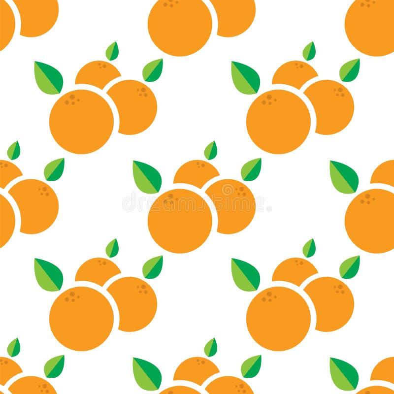 Modèle de mandarine Illustration de vecteur illustration de vecteur