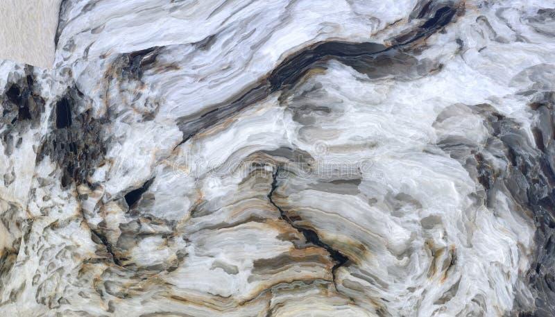 Modèle de marbre bouclé gris illustration libre de droits