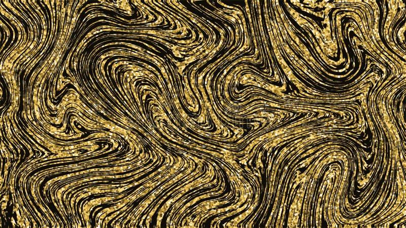 Modèle de marbre d'or de texture de fond Couverture moderne marbrée de luxe d'or Calibre sans couture pour la rétro affiche illustration de vecteur