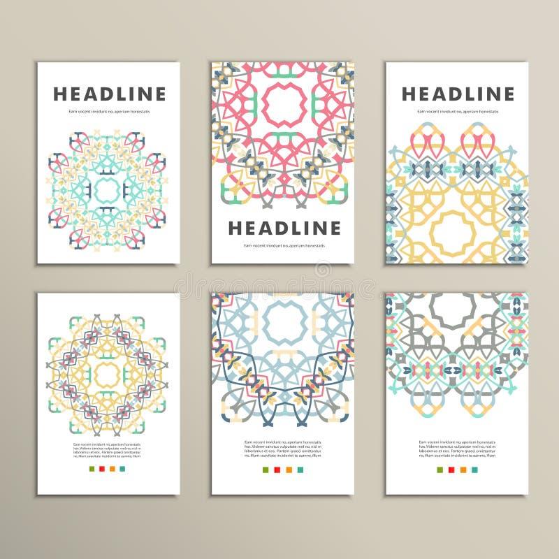 Modèle de modèle de vecteur beau sur le produit imprimé Concevez pour des livres, bannières, faire de la publicité de pages illustration libre de droits