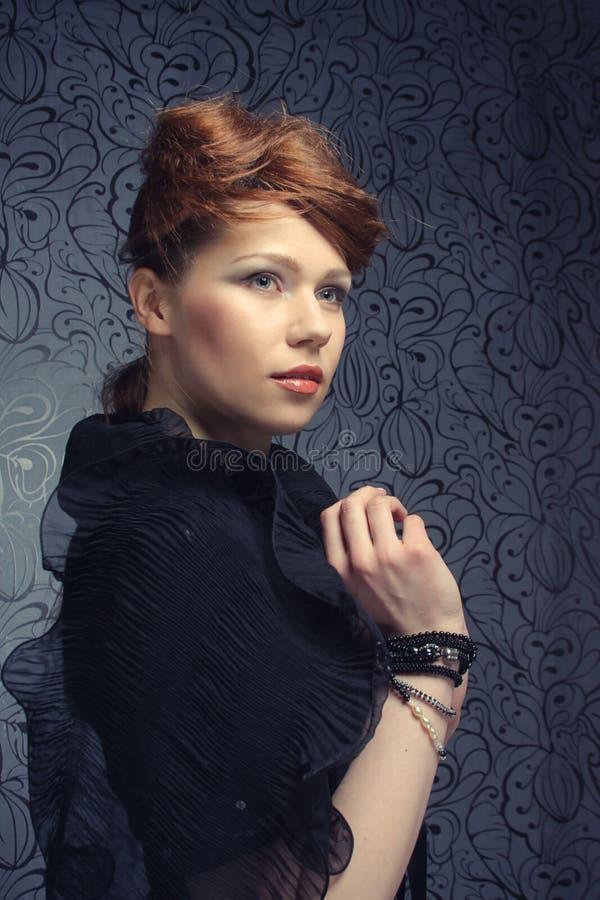 Modèle de mode élevée image stock