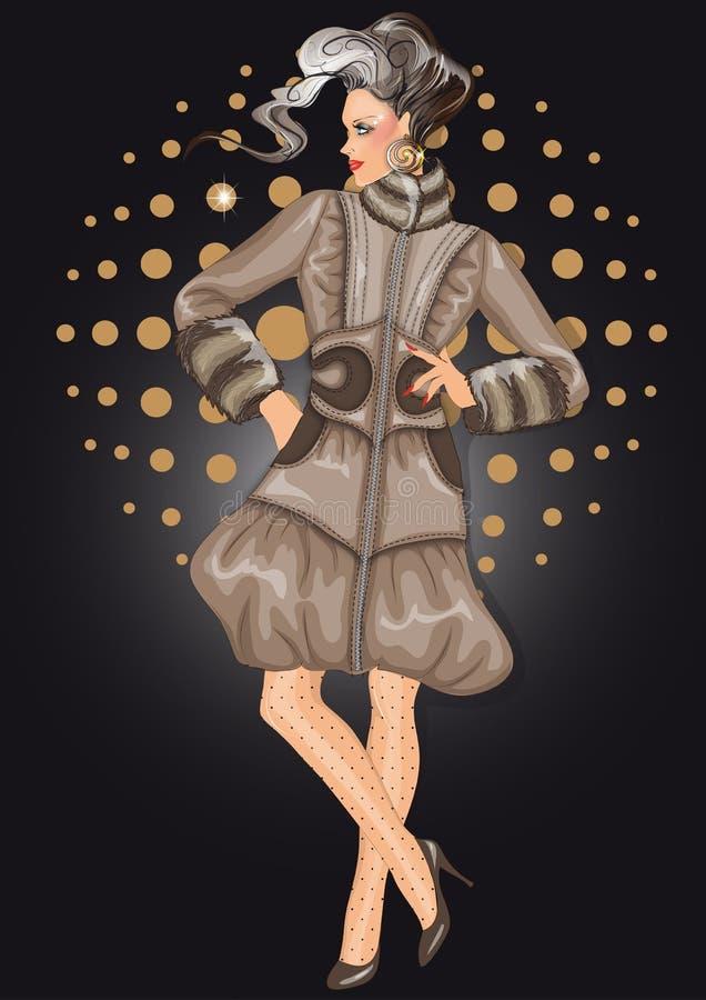 Modèle de mode illustration de vecteur