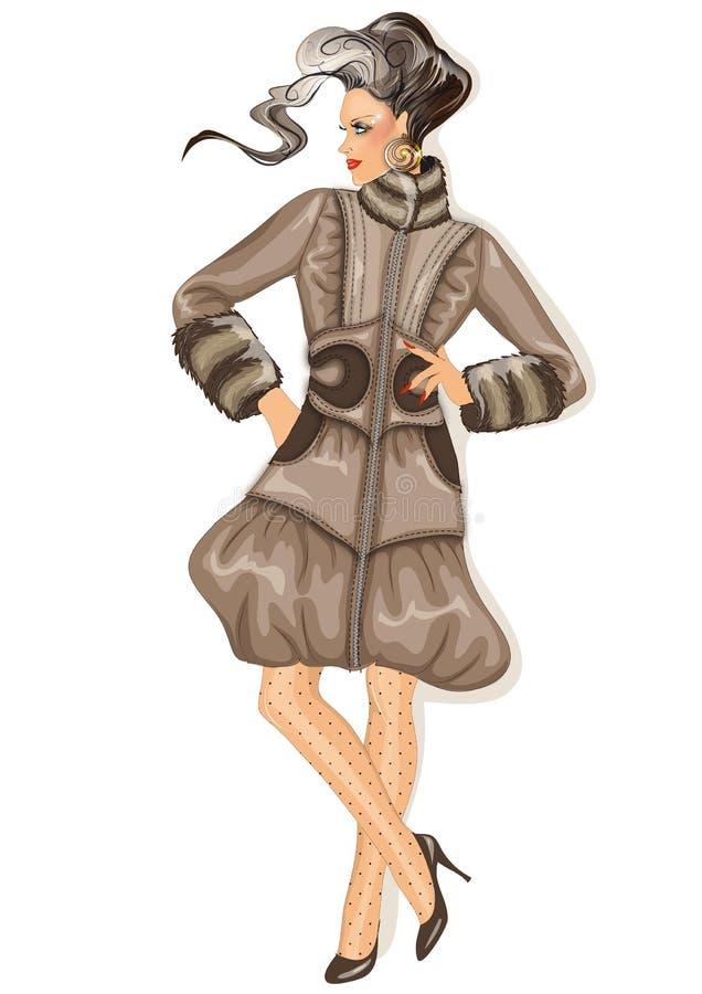 Modèle de mode illustration stock