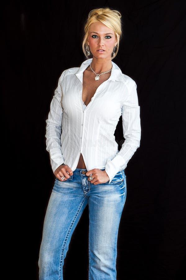 Modèle de mode blond image libre de droits