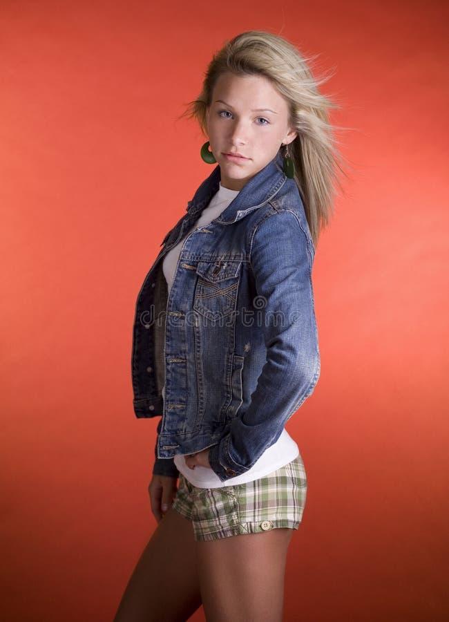 Modèle de mode d'adolescent images stock