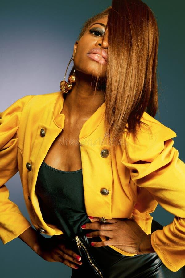 Modèle de mode d'African-american. images libres de droits