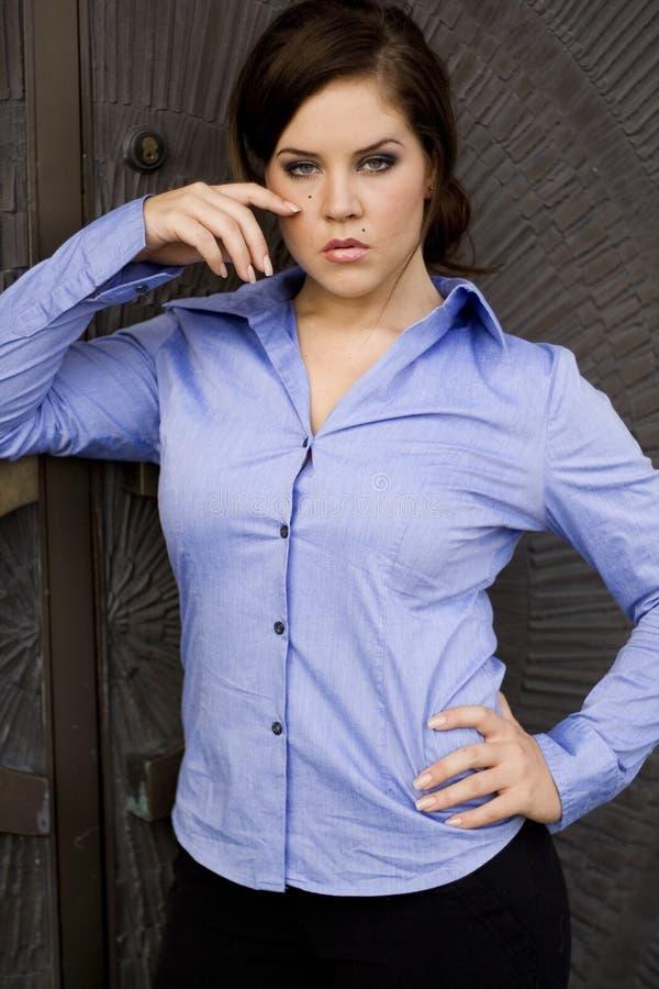 Modèle de mode de Brunette image stock