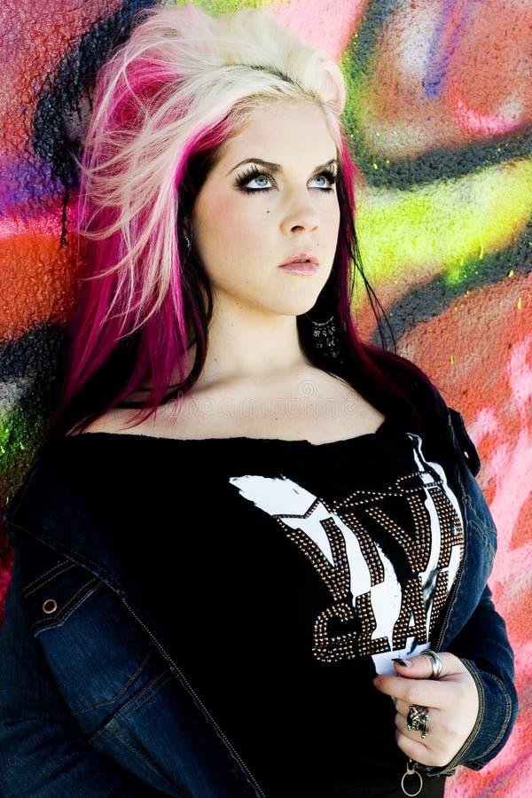 Modèle de mode gothique punk images libres de droits