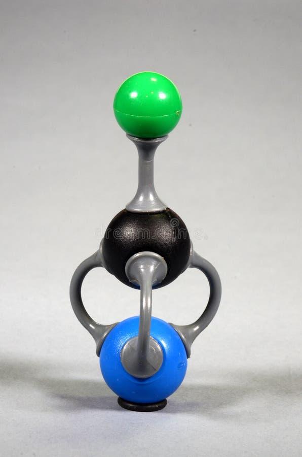 Modèle de molécule de cyanure de potassium image stock