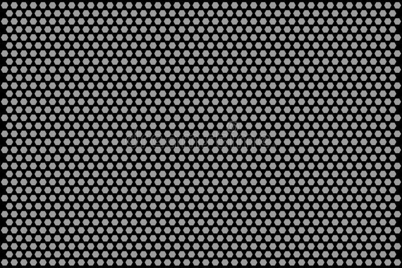 Modèle de monochrome de nid d'abeilles illustration de vecteur