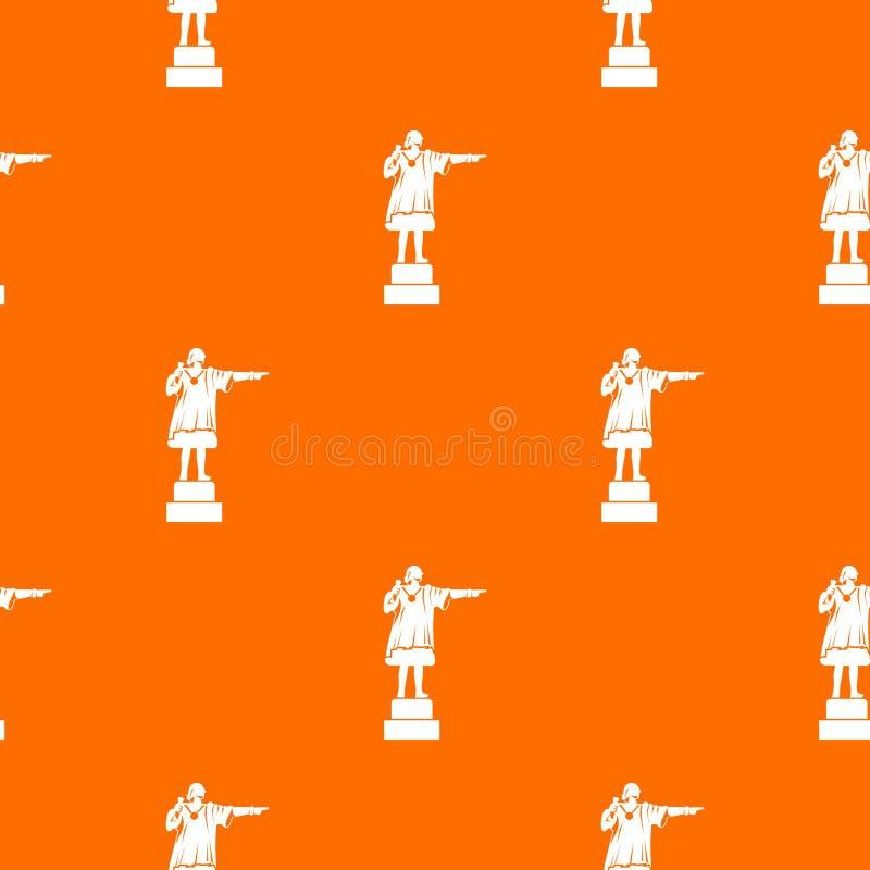 Modèle de monument de Columbus sans couture illustration stock