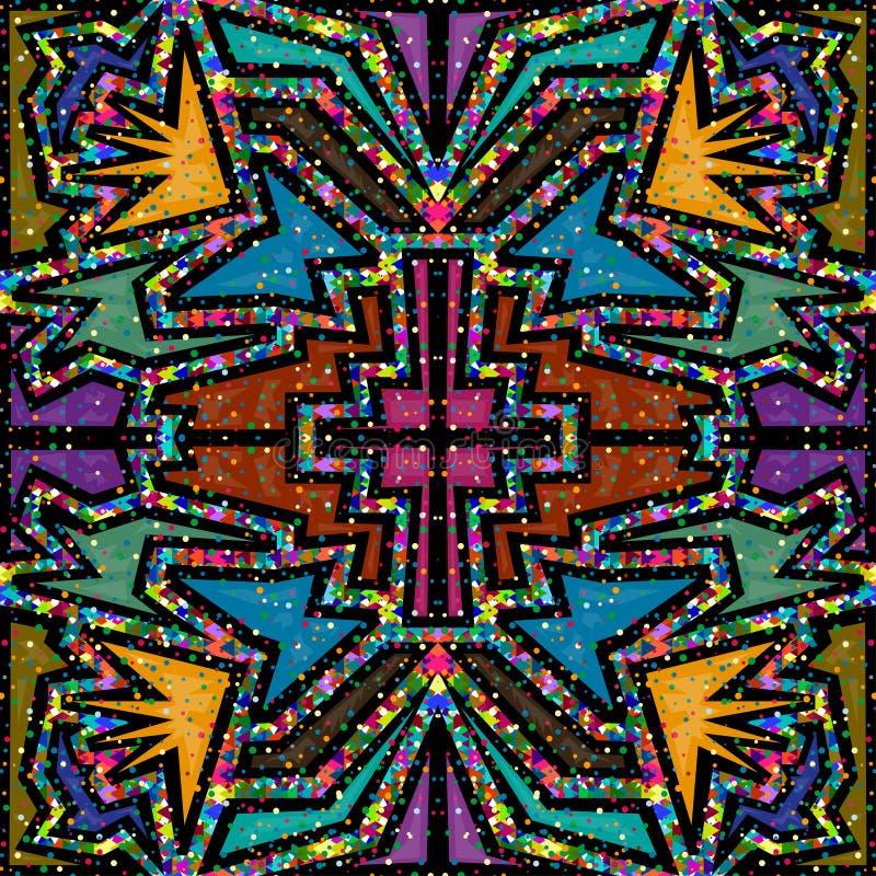 Modèle de mosaïque en verre de fond abstrait coloré illustration de vecteur