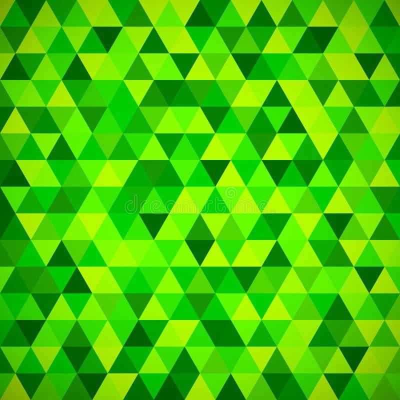 Modèle de mosaïque géométrique de triangle bleue illustration stock
