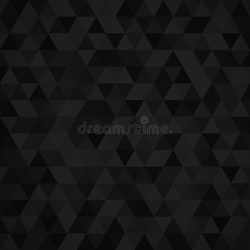 Modèle de mosaïque géométrique de triangle noire illustration de vecteur