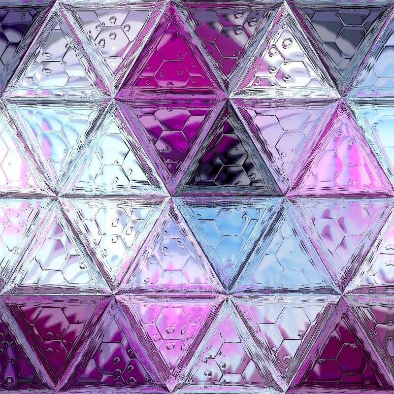 Modèle de mosaïque pourpre et violet abstrait, fond continu photo stock