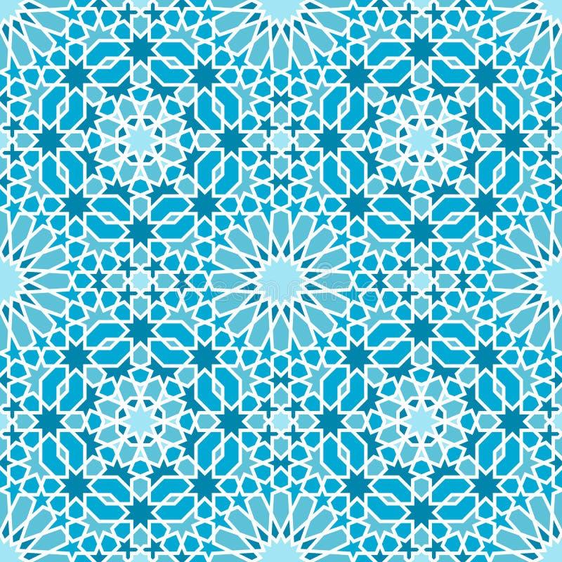 Modèle de mosaïque sans couture oriental illustration libre de droits