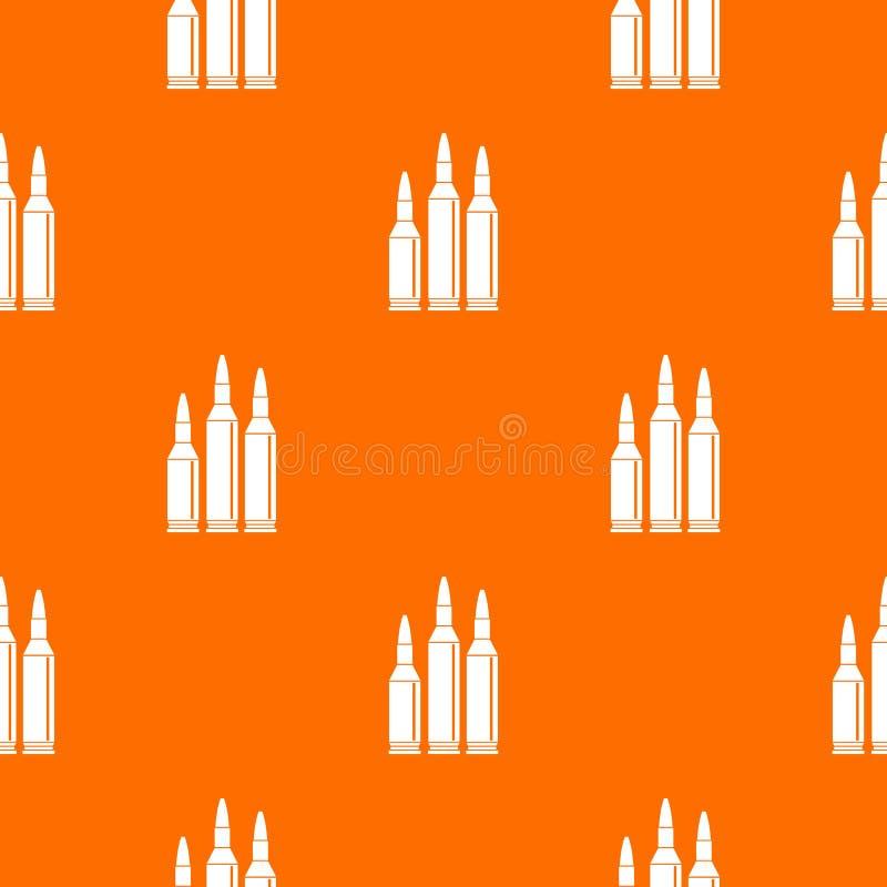Modèle de munitions de balle sans couture illustration stock