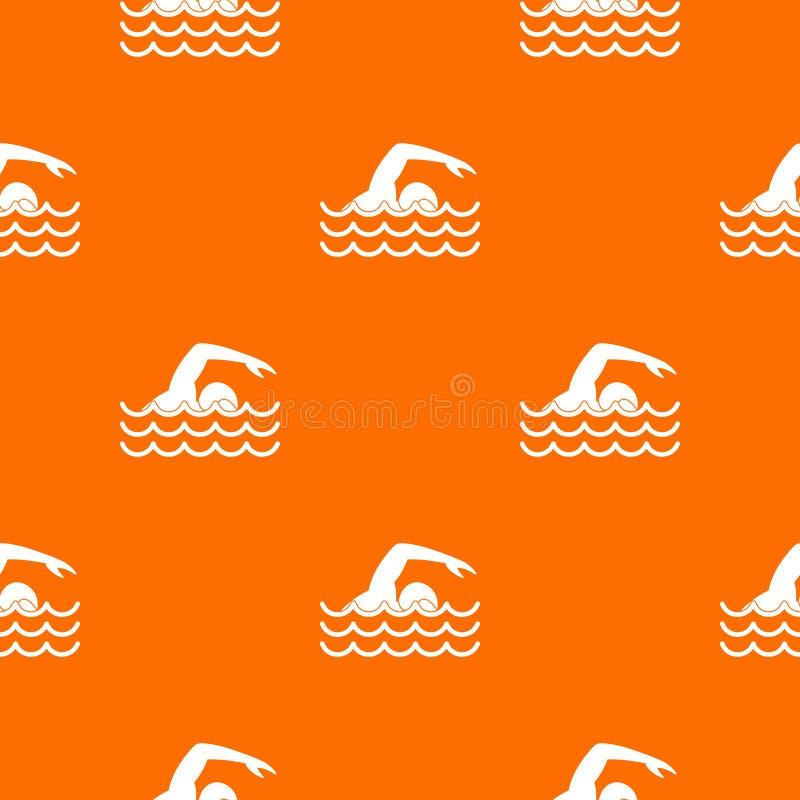 Modèle de nageur sans couture illustration libre de droits