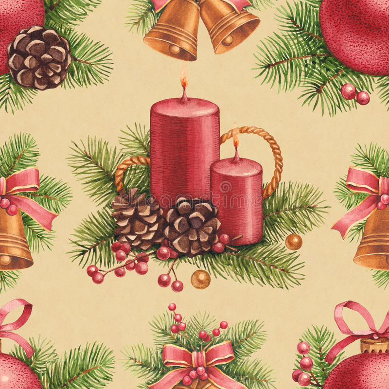 Modèle de Noël de vintage illustration stock