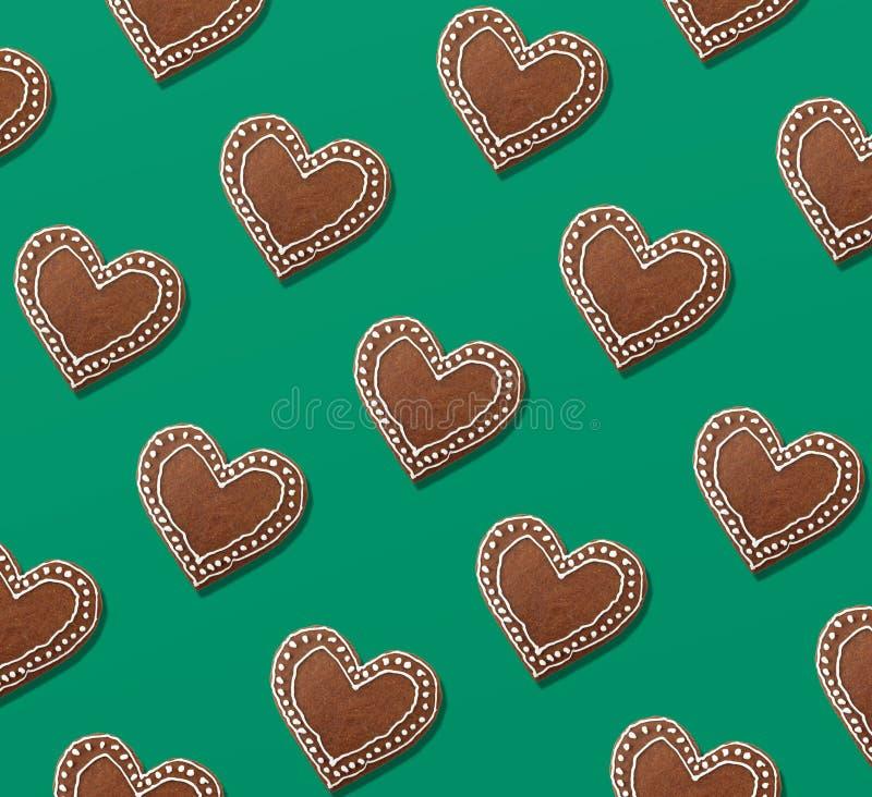 Modèle de Noël des biscuits de pain d'épice illustration de vecteur