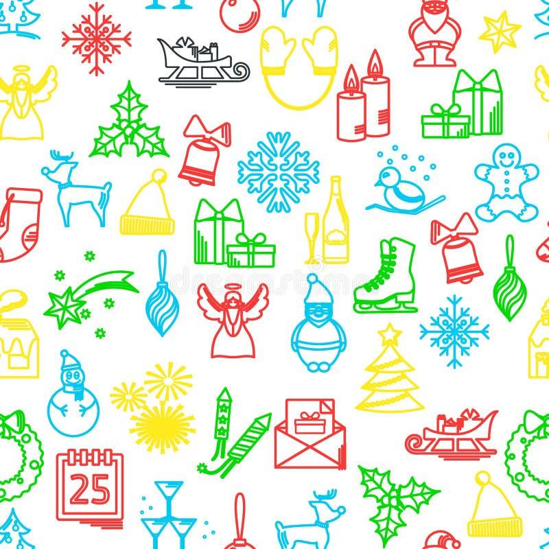 Modèle de Noël SANS COUTURE illustration de vecteur