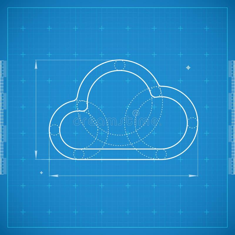 Modèle de nuage Illustration stylisée de vecteur illustration stock