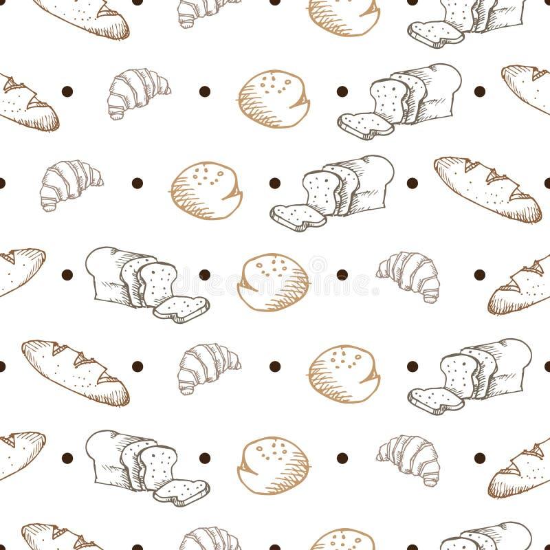 Modèle de pain illustration libre de droits