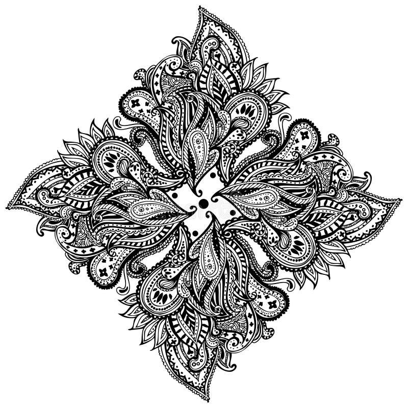 Modèle de Paisley illustration de vecteur