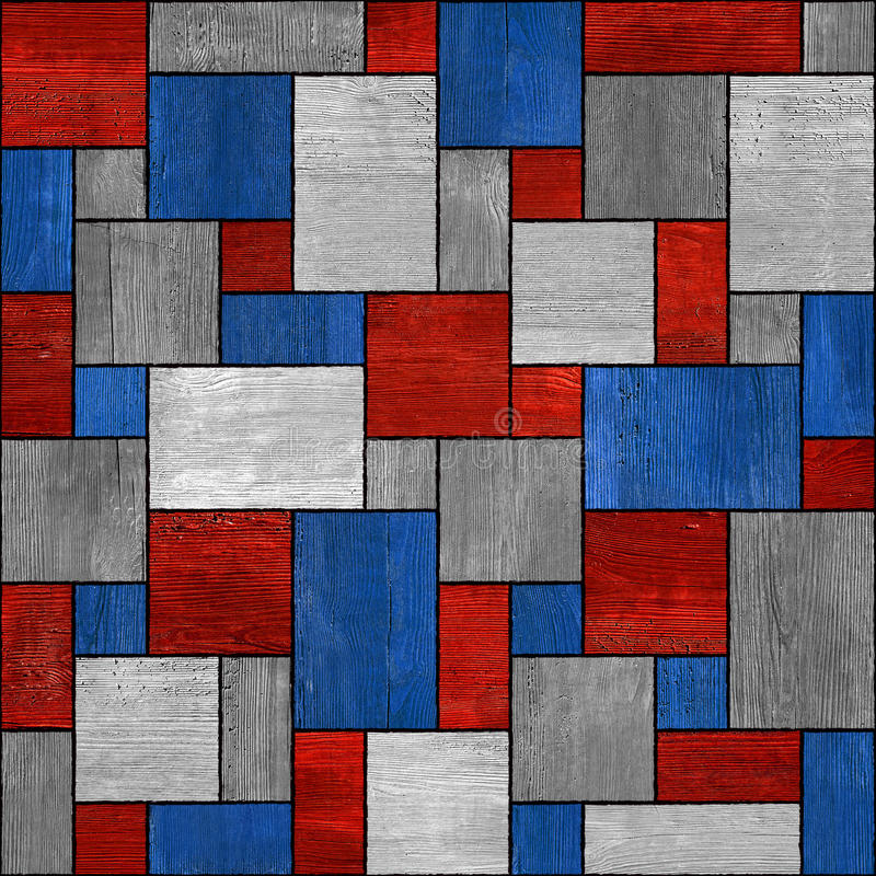 Modèle de panneautage - fond sans couture - couleurs des Etats-Unis - en bois illustration de vecteur