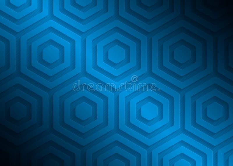 Modèle de papier bleu, calibre abstrait de fond pour le site Web, bannière, carte de visite professionnelle de visite, invitation illustration libre de droits