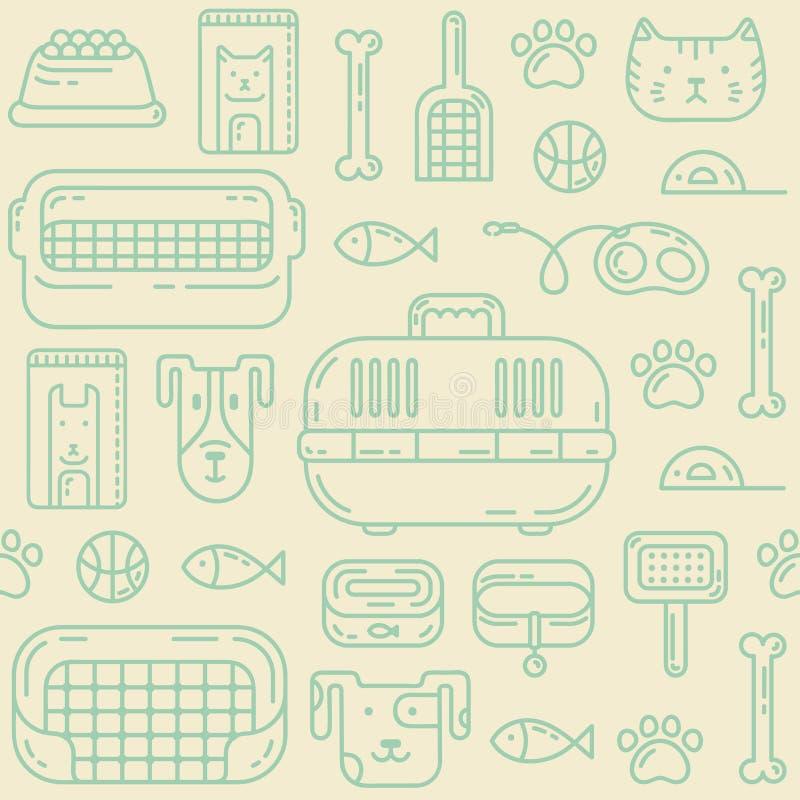 Modèle de Petshop illustration stock