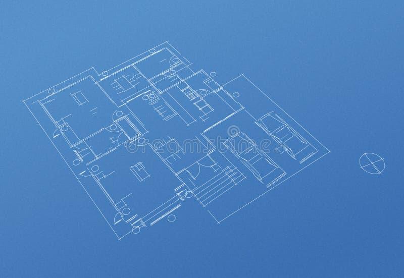 Modèle de plan d'étage de Chambre image stock