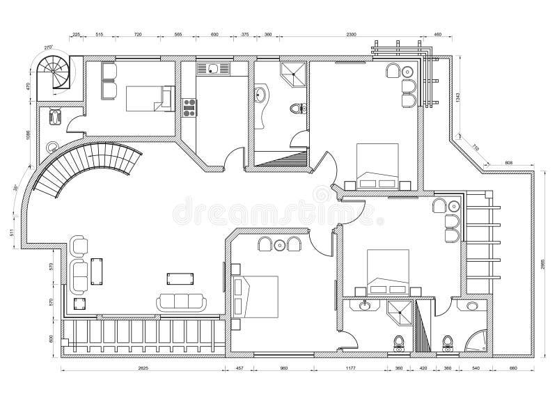Modèle de plan d'appartement illustration libre de droits
