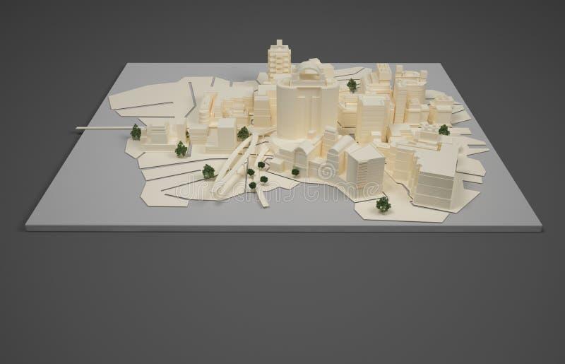 Modèle de plan d'architecte illustration de vecteur