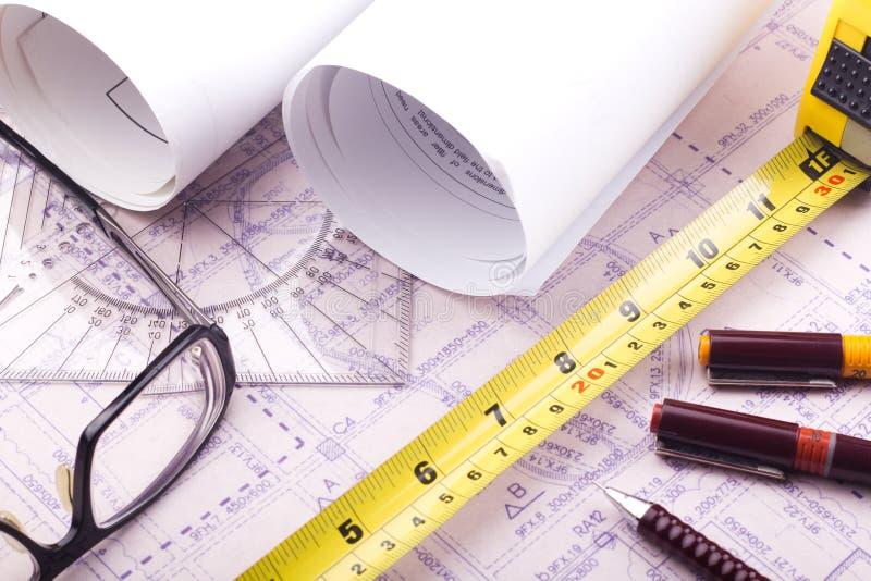 Modèle de plan de Chambre - conception d'architecte image libre de droits