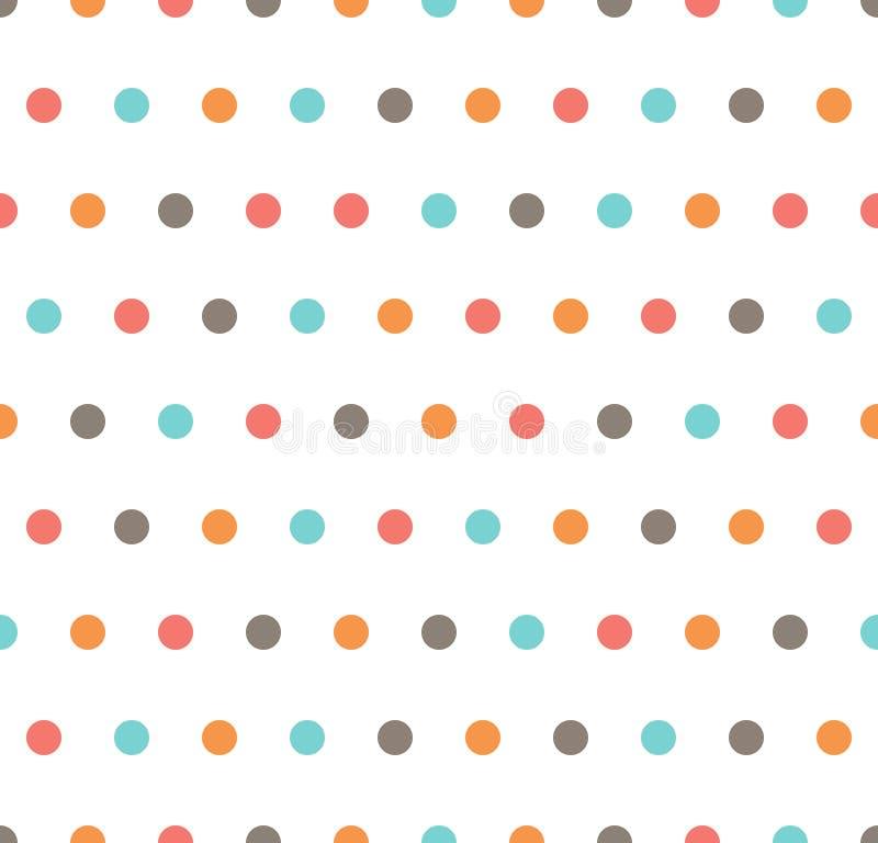 modèle de point de polka illustration stock