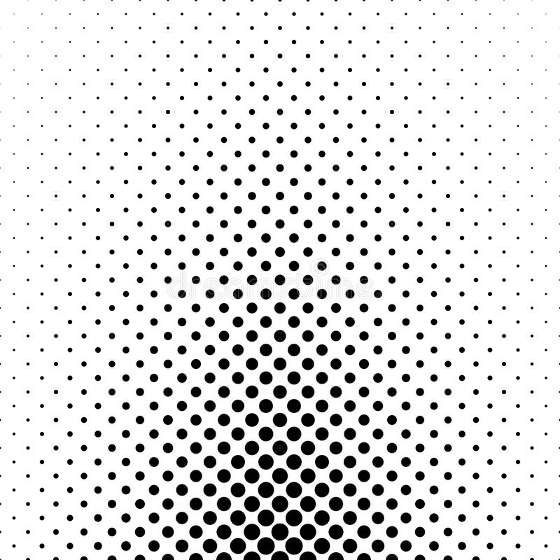 Modèle de point monochrome abstrait de polka - conception géométrique de fond de vecteur illustration libre de droits