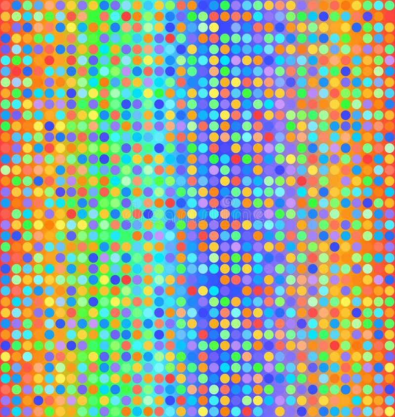 Modèle de point rougeoyant de polka Fond sans joint de vecteur illustration stock