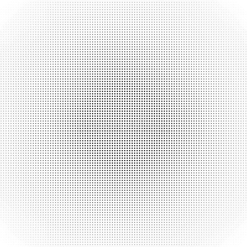 Modèle de point tramé de cercle Illustration abstraite noire de vecteur Structure créative de fond de calibre illustration libre de droits