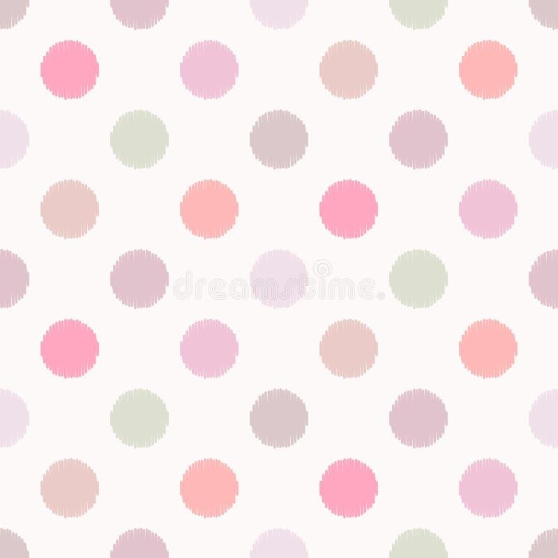 Modèle de points en pastel sans couture de polka illustration de vecteur