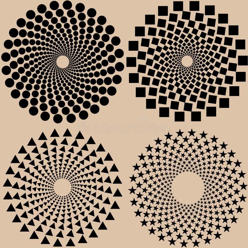Modèle de points tramé réglé dans le format de vecteur illustration de vecteur