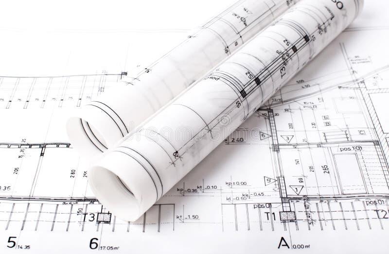 Modèle de projet d'architecte photos stock