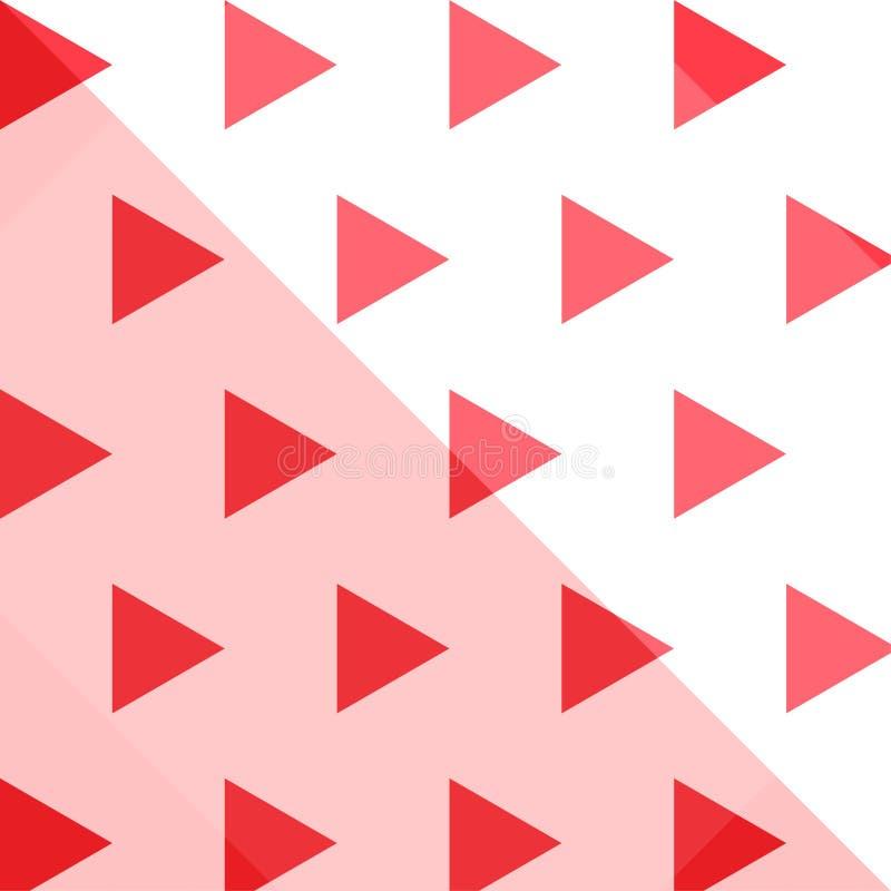 Modèle de répétition géométrique triangulaire transparent photo stock