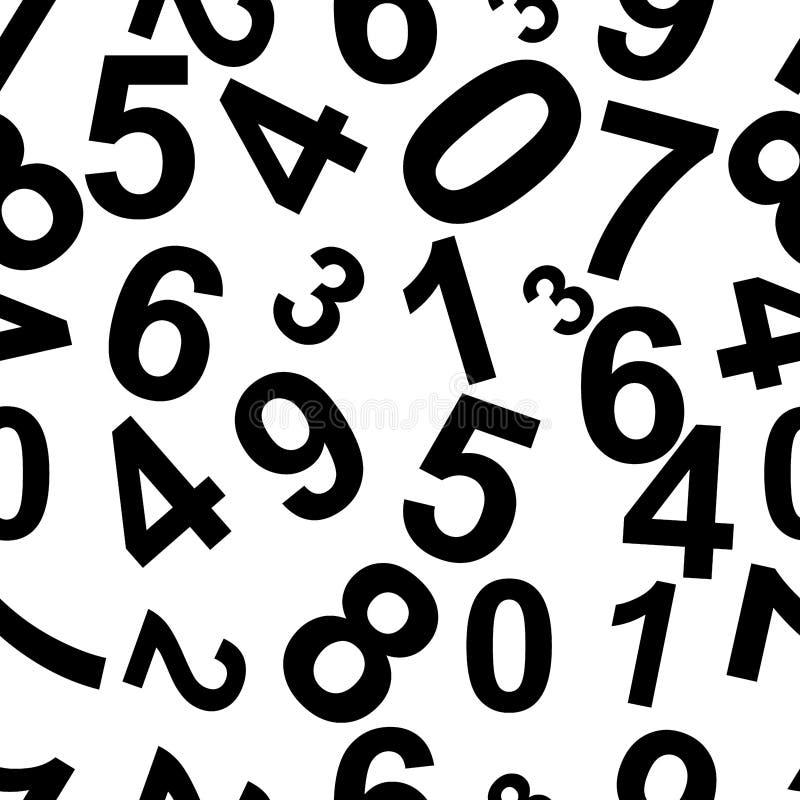 Modèle de répétition sans couture comprenant les nombres Vecteur illustration libre de droits