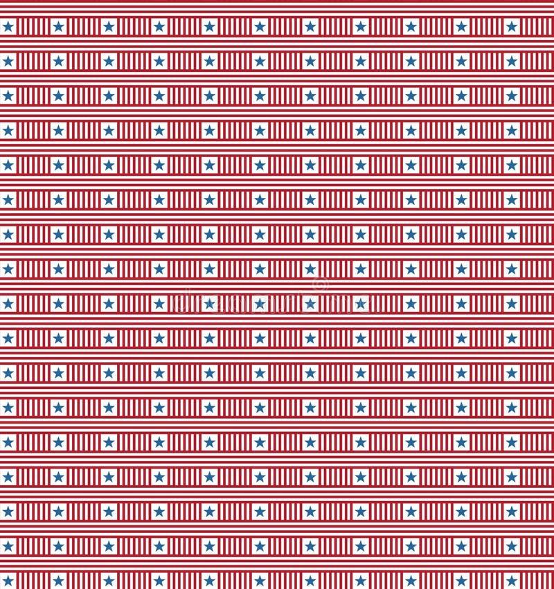 Modèle de répétition sans couture de Jour de la Déclaration d'Indépendance illustration de vecteur