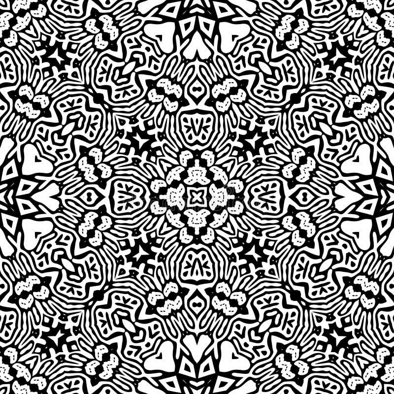 Modèle de répétition sans couture noir et blanc de vecteur illustration libre de droits