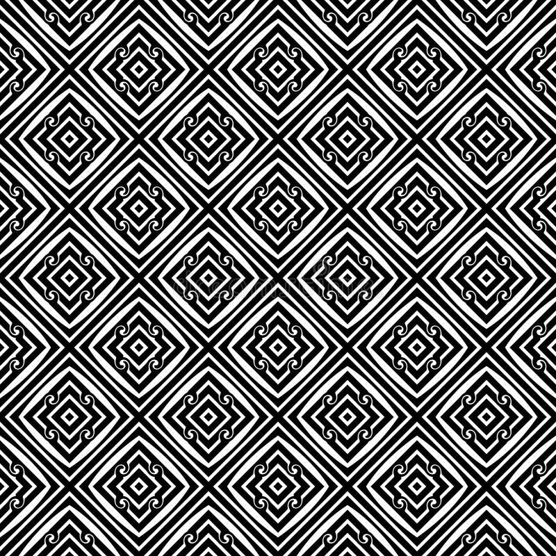 Modèle de répétition sans couture noir et blanc de vecteur Multicolore, idée illustration stock