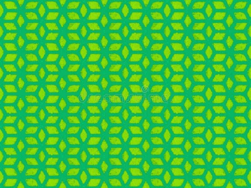Modèle de répétition vert de cube images stock