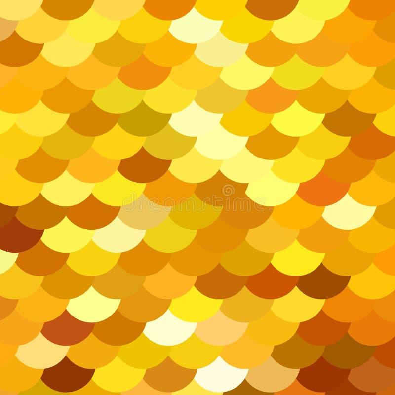 Modèle de résumé semblable pour pêcher des échelles ou brodé avec des étincelles, tissu de paillettes Différentes nuances d'or, j illustration libre de droits